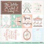 Лист односторонней бумаги 30x30 от Scrapmir Cards из коллекции Happy Days 10шт