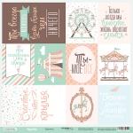 Лист односторонней бумаги 30x30 от Scrapmir Карточки (ru) из коллекции Happy Days 10шт
