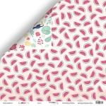 Лист двусторонней бумаги 30x30 от Scrapmir Арбуз из коллекции Summer 10шт