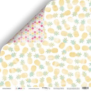 Лист двусторонней бумаги 30x30 от Scrapmir Ананасовая роща из коллекции Summer 10шт