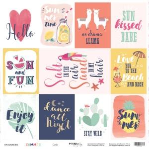 Лист односторонней бумаги 30x30 от Scrapmir Cards из коллекции Summer 10шт
