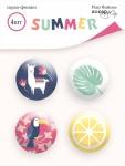 Набор скрап-фишек для скрапбукинга 4шт от Scrapmir Summer
