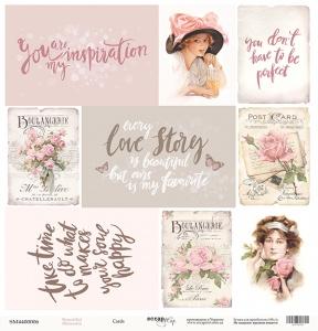 Лист односторонней бумаги 30x30 от Scrapmir Cards из коллекции Beautiful Moments 10шт