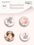Набор скрап-фишек для скрапбукинга 4шт от Scrapmir Beautiful Moments