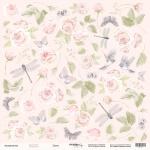 Лист односторонней бумаги для вырезания 30x30 от Scrapmir Цветы из коллекции Beautiful Moments 10шт