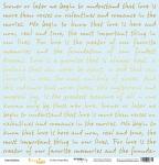 Лист односторонней бумаги с золотым тиснением 30x30 Golden Script Blue от Scrapmir Every Day Gold 10шт.