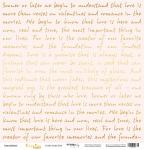 Лист односторонней бумаги с золотым тиснением 30x30 Golden Script Pink от Scrapmir Every Day Gold 10шт