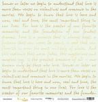 Лист односторонней бумаги с золотым тиснением 30x30 Golden Script Mint от Scrapmir Every Day Gold 10шт