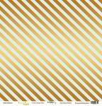 Лист односторонней бумаги с золотым тиснением 30x30 Golden Stripes Blue от Scrapmir Every Day Gold 10шт