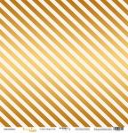 Лист односторонней бумаги с золотым тиснением 30x30 Golden Stripes Pink от Scrapmir Every Day Gold 10шт