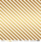 Лист односторонней бумаги с золотым тиснением 30x30 Golden Stripes White от Scrapmir Every Day Gold 10шт