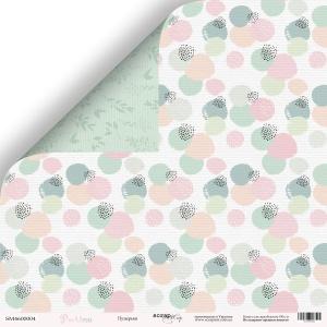 Лист двусторонней бумаги 30x30 от Scrapmir Пузырьки из коллекции Pur Pur 10шт