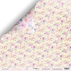 Лист двусторонней бумаги 30x30 от Scrapmir Ситец из коллекции Gentle Morning 10шт