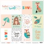 Лист односторонней бумаги 30x30 от Scrapmir Cards из коллекции Funny Friends 10шт