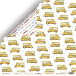 Лист двусторонней бумаги 30x30 от Scrapmir Школьный автобус из коллекции School Days 10шт