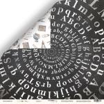 Лист двусторонней бумаги 30x30 от Scrapmir Алфавит из коллекции School Days 10шт