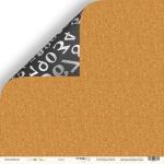Лист двусторонней бумаги 30x30 от Scrapmir Доска из коллекции School Days 10шт