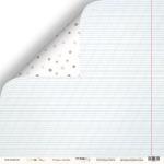 Лист двусторонней бумаги 30x30 от Scrapmir Тетрадь в линейку из коллекции School Days 10шт