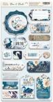 Чипборд для скрапбукинга 18шт от Scrapmir Blue & Blush (ENG)