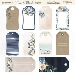 Лист двусторонней бумаги 20х20см Tag-Pad Blue & Blush от Scrapmir 10шт