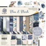 Набор двусторонней бумаги 20х20см от Scrapmir Blue & Blush 11шт