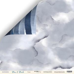 Лист двусторонней бумаги 30x30 от Scrapmir Туман из коллекции Blue & Blush 10шт