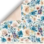Лист двусторонней бумаги 30x30 от Scrapmir Розы из коллекции Blue & Blush 10шт
