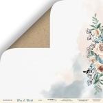 Лист двусторонней бумаги 30x30 от Scrapmir Крафт из коллекции Blue & Blush 10шт