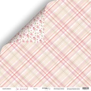 Лист двусторонней бумаги 30x30 от Scrapmir Линия из коллекции So Loved 10шт
