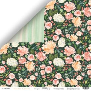 Лист двусторонней бумаги 30x30 от Scrapmir Акварель из коллекции Peaches & Cream 10шт