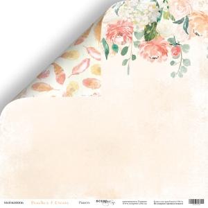 Лист двусторонней бумаги 30x30 от Scrapmir Радость из коллекции Peaches & Cream 10шт