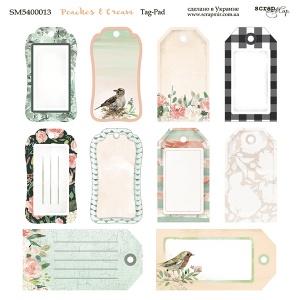 Лист двусторонней бумаги 20х20см Tag-Pad Peaches & Cream от Scrapmir 10шт