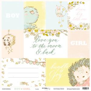 Лист односторонней бумаги 30x30 от Scrapmir Cards из коллекции Boy or Girl 10шт