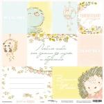 Лист односторонней бумаги 30x30 от Scrapmir Карточки из коллекции Boy or Girl 10шт