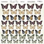 Лист двусторонней бумаги 20х20см Бабочки Family Tree от Scrapmir 10шт
