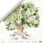 Лист двусторонней бумаги 30x30 от Scrapmir Родовое Дерево из коллекции Family Tree 10шт