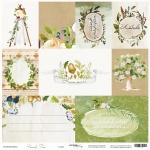 Лист односторонней бумаги 30x30 от Scrapmir Карточки из коллекции Family Tree 10шт