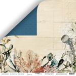 Лист двусторонней бумаги 30x30 от Scrapmir Кораллы из коллекции Nautical Graphic 10шт