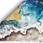Лист двусторонней бумаги 30x30 от Scrapmir Бриз из коллекции Nautical Graphic 10шт