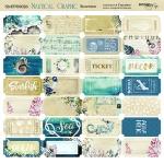 Лист двусторонней бумаги 20х20см Билетики Nautical Graphic от Scrapmir 10шт