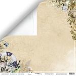 Лист двусторонней бумаги 30x30 от Scrapmir Медуза из коллекции Nautical Graphic 10шт