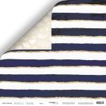 Лист двусторонней бумаги 30x30 от Scrapmir Море из коллекции Nautical Graphic 10шт