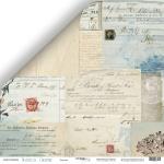 Лист двусторонней бумаги 30x30 от Scrapmir Письма из коллекции Nautical Graphic 10шт