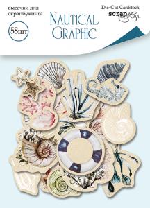 Набор высечек для скрапбукинга 58шт от Scrapmir Nautical Graphic