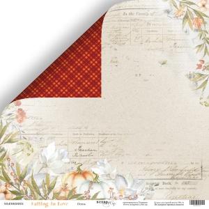 Лист двусторонней бумаги 30x30 от Scrapmir Осень из коллекции Falling in Love 10шт