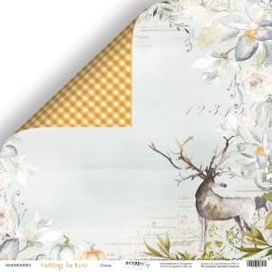 Лист двусторонней бумаги 30x30 от Scrapmir Олень из коллекции Falling in Love 10шт