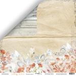 Лист двусторонней бумаги 30x30 от Scrapmir Осенние цветы из коллекции Falling in Love 10шт