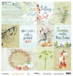 Лист односторонней бумаги 30x30 от Scrapmir Cards из коллекции Falling in Love 10шт