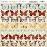 Лист двусторонней бумаги 20х20см Бабочки Falling in Love от Scrapmir 10шт