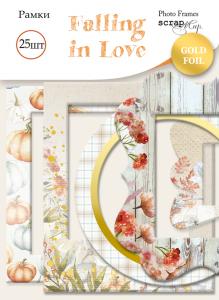 Рамки для фотографий с золотым фольгированием 25 шт от Scrapmir Falling in Love
